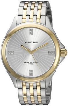 Armitron Men's 20/5086SVTT Swarovski Crystal Accented Two-Tone Bracelet Watch -- You can get additional details at the image link.