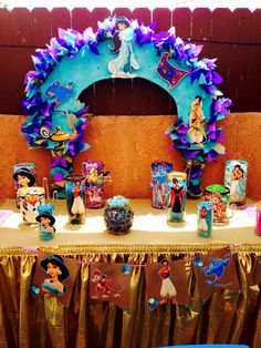 Jasmine & Aladdin birthday party! See more party ideas at CatchMyParty.com!