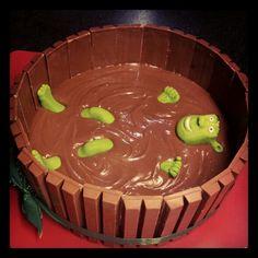 Shrek cake for rap party