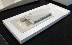 model of the 'casa delle bottere' treviso, italy image © designboom