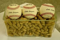Baseball Party cute center pieces.