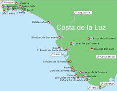 Gu Reisen Costa De La Luz. Befindet sich die finden Sie in unserem gu Costa De La Luz: Orte zu besuchen, Gastronom, Parteien...