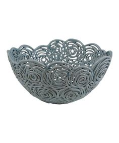 Take a look at the Light Blue Rosette Bowl on #zulily today!