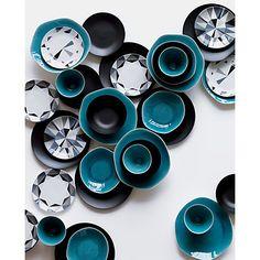 Gorgeous blues ::  dinner plate in dinnerware   CB2.