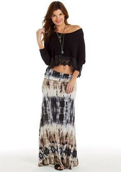 Haylee Tie-Dye Maxi Skirt - Skirts - Clothing - Alloy Apparel