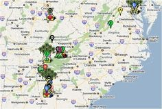 Google Map of #TheWalkingDead shooting locations - annotated