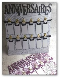 Coul'Heure Papier: Calendrier des Anniversaires à Souhaiter [Tutoriel... Birthday Calendar Board, Mini Albums Scrap, Kirigami, Scrapbooking, Happy Day, Stampin Up Cards, Home Deco, Diy And Crafts, Projects To Try