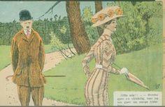 Andreas Bloch humorkort utg Mittet postgått 1906