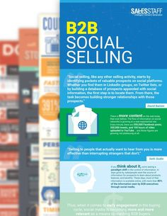 100 Best Sales and Marketing Infographics B2b Social Media Marketing, Sales And Marketing, Cold Calling, Lead Generation, Social Platform, Appointments, Infographics, The 100, Startups