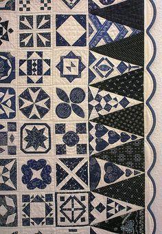 Patch Quilt, Applique Quilts, Quilt Blocks, Two Color Quilts, Blue Quilts, White Quilts, Quilting Projects, Quilting Designs, Dear Jane Quilt