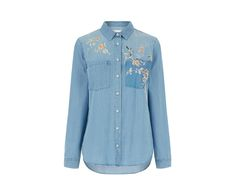 Oasis, The Falls Embroidered Shirt Denim 0
