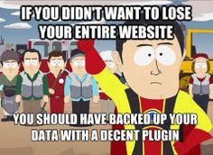 Photography website backup plugin