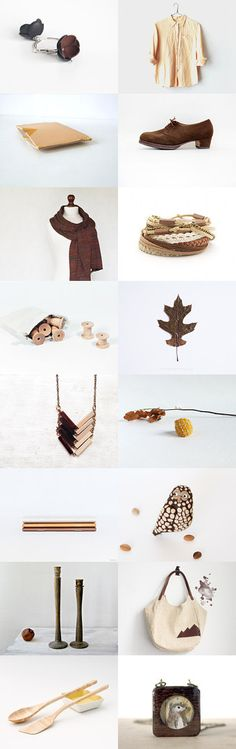 fall preview :: #treasury by Barbara on #Etsy #brown #beige #autumn #trends #fashion #accessories #women :: FP57 EUR (03.08.2014) Brown Beige, Autumn, Fall, Collages, Gift Guide, Fashion Accessories, Palette, Trends, Pattern