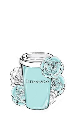 Tiffany and Co coffee art Azul Tiffany, Tiffany And Co, Cute Wallpapers, Wallpaper Backgrounds, Pintura Colonial, Desenio Posters, Photo Deco, Illustration Mode, Fashion Wall Art