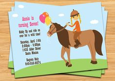 Horseback Riding Birthday Party Invitation by eventfulcards