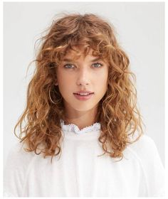 Curly Hair Updo Wedding, Dyed Curly Hair, Short Natural Curly Hair, Curly Hair Braids, Curly Hair With Bangs, Curly Hair Tips, Hairstyles With Bangs, Bangs Hairstyle, Hairstyle Ideas