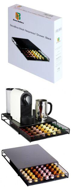 Mind Reader NESMETDPS-BLK Metal Nespresso Capsule Holder Dispenser Black