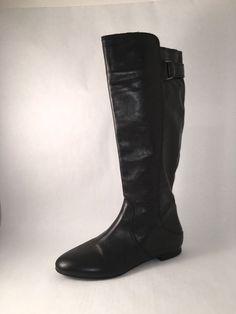 Antonio Melani leather Riding Equestrian Boot 7M Black #AntonioMelani #RidingEquestrian #Everyday