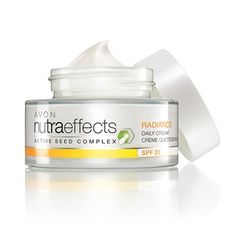 Avon Nutraeffects Radiance Daily Cream SPF20 with Active Seed Complex (glow-boosting bird of paradise seeds)