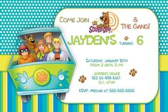 Scooby Doo birthday party invitation ideas1 scooby doo party