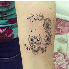 50 of the Most Beautiful Owl Tattoo Designs and Their Meaning for the Nocturnal Animal in You - KickAss Things Baby Owl Tattoos, Cute Owl Tattoo, Cute Animal Tattoos, Mini Tattoos, Trendy Tattoos, Cute Tattoos, New Tattoos, Body Art Tattoos, Small Tattoos