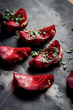 Beet Ravioli from The Rawsome Vegan Cookbook