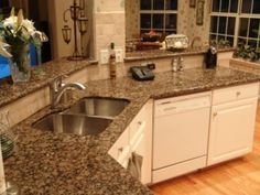 baltic brown granite countertops with antique white cabinets - Google Search