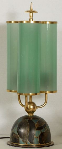 1stdibs.com | Rare Paul Haustein Table Lamp circa 1929