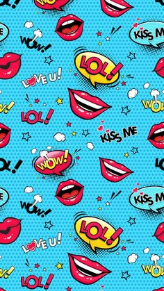 Lips Kiss Me Wallpaper Screen Wallpaper, Cool Wallpaper, Wallpaper Backgrounds, Iphone Wallpaper, Wallpaper Telephone, Cute Wallpapers, Background Images, Decoupage, Illustration Art