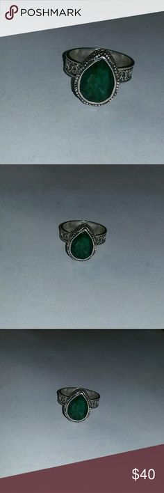 Sterling silver jade ring size 9.5 This is your sterling silver genuine jade ring marked 925 size 9.5.  This is the best quality of sterling silver you can buy! Jewelry Rings