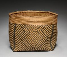 Basket, before 1929      Central Africa, Democratic Republic of the Congo, Mangbetu, 20th century      natural fibers, Overall - h:22.50 cm (h:8 13/16 inches) Diameter of top - w:31.60 cm (w:12 7/16 inches).
