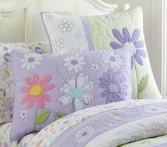 Daisy Garden Quilted Bedding | Pottery Barn Kids