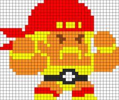 Hulk Hogan Perler Bead Pattern / Bead Sprite