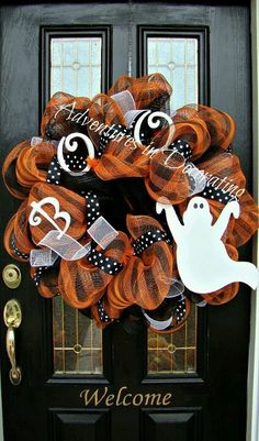 Boo Wreath by Adventures In Decorating
