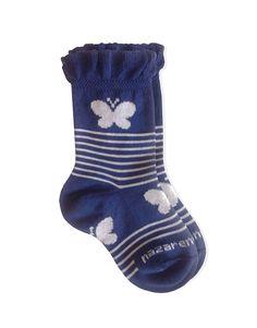 0C22 NG285 Calza neonato - Baby socks butterfly