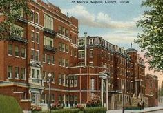 St. Mary's Hospital, Quincy, Illinois. Long gone, but not forgotten. I was born in this hospital