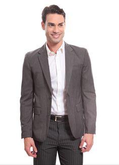 Lojas Renner - Blazer Masculino Risca de Giz- R$ 199,00