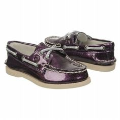 Sperry Top-Sider A/O Tod/Pre Shoes (Plum) - Kids' Shoes - 9.0 M