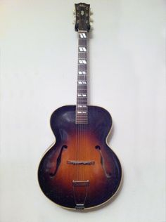 "Gibson L7 1947  This arch-top ""F"" hole guitar is acoustic and sounds like a smokey old jazz club."