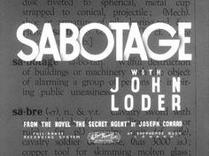 Sabotage (1936) movie title