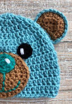 Teddy Bear Crochet Pattern, Crochet Teddy Bear Hats for Girls and Boys, Children's Teddy Crochet Hat, Infant Teddy Crochet Hat Crochet Baby Boy Hat, Easy Crochet Hat, Crochet Hats For Boys, Crochet Teddy Bear Pattern, Crochet Patterns, Crochet Bear Hat, Bear Patterns, Crochet Dolls, Doll Patterns
