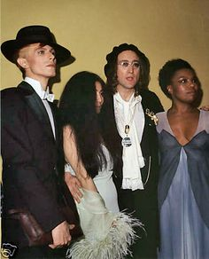 Era of Young Americans album, Grammy Awards. The Thin White Duke, and on the right, possibly backup singer? Must check on this...