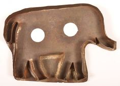 """Large Elephant Tin Cookie Cutter. 5""""h. x 7-1/4""""w"""
