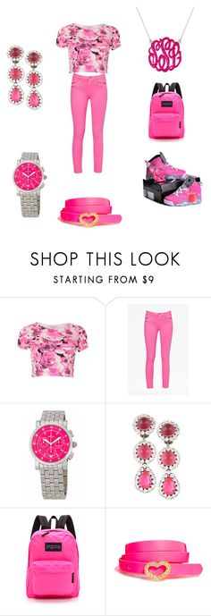 """Tay""s work"" by cayla321-383 ❤ liked on Polyvore featuring Blue Inc Woman, French Connection, Michele, JanSport, Black & Brown London and pinkfriday"