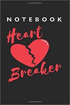 Amazon.com: Heartbreaker Notebook: Lined College Ruled Notebook (9x6 inches, 120 pages): For School, Notes, Drawing, and Journaling (9798633755091): Notebooks, Cooldruck: Books Notebooks, Journals, School Notes, Journal Notebook, College, Drawing, Amazon, School Grades, University