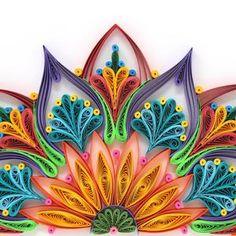 Arte Quilling, Quilling Work, Paper Quilling Patterns, Quilled Paper Art, Quilling Jewelry, Quilling Paper Craft, Paper Wall Art, Paper Artwork, Mandala Art