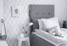 Gray & White Bedroom