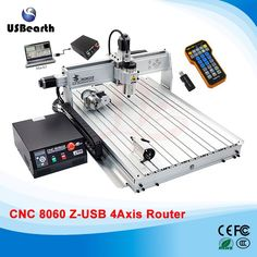(2071.00$)  Watch more here - http://ai5en.worlditems.win/all/product.php?id=32706863043 - CNC Router 8060Z 2200W VFD Spindle CNC Machine with USB Port, 4 axis cnc cutting machine with free handwheel