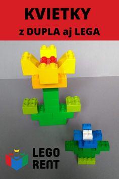 Urobte si jarnú výzdobu z Lega! Pozrite si videonávody na kvietky, na ktoré môžete použiť DUPLO aj klasické LEGO. Lego Duplo, 3 D, Tutorials, Make It Yourself, Logos, Flowers, Royal Icing Flowers, Flower, Logo