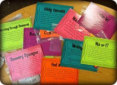 Station Work for ELA Centers.  I plan to make some of these for my 8th Grade Reading Class.